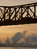 Bridge, River, and Skyline Full of Air Pollution Photographic Print by Kenneth Garrett