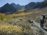 Backpacking in the Fall Colors at Mcgee Creek near Mammoth Lakes, California Photographic Print by Rich Reid