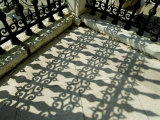 Close View of the Shadow Cast by the Ornate Detail of an Iron Fence, Venice, Italy Photographic Print by Todd Gipstein