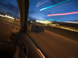 Blurred Lights from a Car Window, Arizona Photographic Print by John Burcham