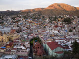 Colorful Colonial Architecture of Guanajuato Mexico at Sunset Photographic Print by David Evans