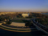 Aerial View of Lincoln Memorial and Memorial Bridge, Washington, D.C. Photographic Print by Kenneth Garrett