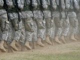 Army Rangers Marching in Formation Photographic Print by Skip Brown