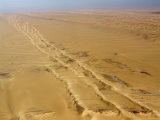 Beautiful Parallel Dunes Grade into the Saharan Steppe, Niger Photographic Print by Michael Fay