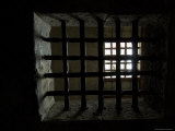 Close View of Iron Bars in a Window in the Prison of the Doges Palace, Venice, Italy Photographic Print by Todd Gipstein