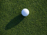 Close View of a Golf Ball on the Green, Groton, Connecticut Photographic Print by Todd Gipstein