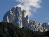 Clouds Form above Limestone Towers in the Dolomite Mountains, Dolomites, Italy Photographic Print by Bill Hatcher