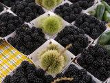 Blackberries for Sale in Market, Marin, California Photographic Print
