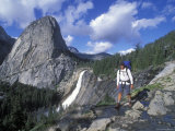 Backpacking on the John Muir Trail Past Nevada Falls and Liberty Cap Photographic Print by Rich Reid