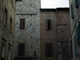 Buildings on a Side Street in Siena, Tuscany, Italy Photographic Print by Todd Gipstein