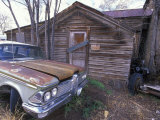 Abandoned Cabin and Old Car on Historic Route 66, Seligman, Arizona Photographic Print by Rich Reid
