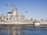Battleship USS Massachusetts Photographic Print by Tim Laman