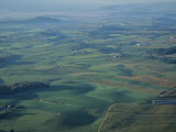 Aerial View of Farms in Shenandoah Valley Photographic Print by Kenneth Garrett
