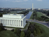 Aerial View of Lincoln Memorial, Reflecting Pool, Washington Monument, Washington, D.C. Photographic Print by Kenneth Garrett