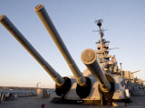 16 Inch Guns on the Battleship USS Massachusetts Photographic Print by Tim Laman
