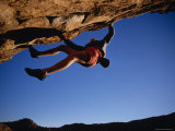 Climber Scaling an Overhang in Texas Photographic Print by Bobby Model