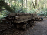 Abandoned Antique Railway Carriage Carrying Train Track Sleepers, Australia Photographic Print by Jason Edwards