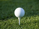 Close-Up of Golf Ball on a Tee, Groton, Connecticut Photographic Print by Todd Gipstein