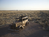 Abandoned Car on Route 66, Petrified Forest National Park, Arizona Photographic Print by John Burcham