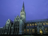 Exterior of Salisbarrycathedral at Night in Salisbarry, England Photographic Print by Richard Nowitz
