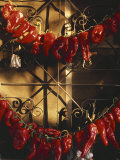 Israel: Red Peppers Drying in the Sun Photographic Print by  Brimberg & Coulson