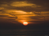 Cloudy Sunset over Pacific Ocean, Santa Barbara, California Photographic Print by James Forte