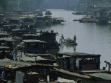 Boats on the Crowded Grand Canal, Hangzhou, China Photographic Print by James L. Stanfield