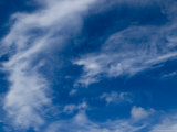 Blue Sky with Wispy Clouds, Groton, Connecticut Photographic Print by Todd Gipstein