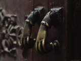 Close-Up of Brass Knockers in Old Havana, Cuba Photographic Print by James L. Stanfield