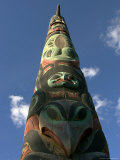 Hand-Carved Totem Pole of the Tlingit Culture, Alaska Photographic Print by Ralph Lee Hopkins