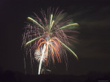 Fireworks after the Fourth of July Parade in Ojai, California Photographic Print by Rich Reid