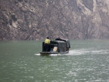 Boat on the Yangtze River, Three Gorges Dam Area, Chongqing, China Photographic Print by David Evans
