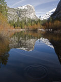 Fall Colors and Mount Watkins Reflecting in Mirror Lake, California Photographic Print by Rich Reid