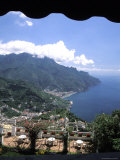 Homes and Sea in Ravello, Italy from Hotel Polumbo Photographic Print by Richard Nowitz