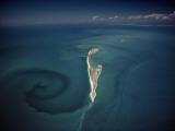 Calm Tidal Swirl Can Be Seen Left of the Lacepede Islands, Australia Fotografie-Druck von David Doubilet