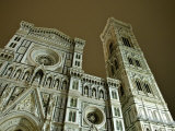 Facade of Duomo Santa Maria del Fiore at Night, Florence, Italy Photographic Print by  Brimberg & Coulson