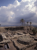 Excavations of the Ancient Biblical City of Tel Meggido, Israel Photographic Print by Richard Nowitz