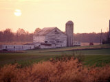 Farm in Rockville, Maryland at Sunset Photographic Print by Richard Nowitz