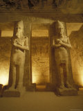 Interior of Two Statues at the Temple of Ramses II in Abu Simbel, Egypt Photographic Print by Richard Nowitz