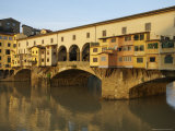 Early Morning Sunrise on Ponte Vecchio at Dawn, Florence, Italy Fotoprint van  Brimberg & Coulson
