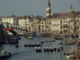 Boats Crowd the Grand Canal of Venice, Italy Photographic Print by James L. Stanfield
