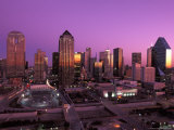 Dallas City Skyline at Dusk Facing East in Texas Photographic Print by Richard Nowitz