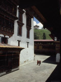Buddhist Monks at the Paro Dzong En Route to the Taktshang Monastery Photographic Print by James L. Stanfield