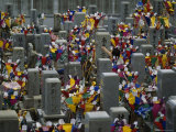 Cemetery Crowded with the Graves of Atomic Bomb Victims, Japan Photographic Print by Jodi Cobb