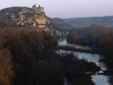 Chateau and Surrounding Village above the Dordogne River, France Photographic Print by James L. Stanfield