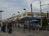 Boardwalk at Coney Island on a Cloudy Day, Brooklyn, New York Photographic Print by Todd Gipstein
