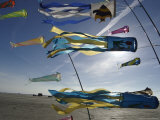 Kites Flying at Beach, Romo, Denmark Photographic Print by  Brimberg & Coulson