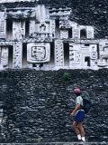 Exploring the Mayan Ruins of Xunantunich, Belize Photographic Print by Bill Hatcher