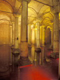 Interior of Cisterns Columns in Istanbul, Turkey Photographic Print by Richard Nowitz
