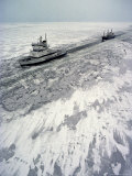 Finland, Ice-Breaker Making Way for Freighter in Northern Section of Gulf of Bothnia Photographic Print by  Brimberg & Coulson